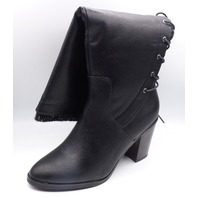 JUST FAB LACE ME UP-WC BLACK US WOMEN 8.5 EU 39 HEELED BOOT