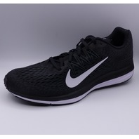 NIKE ZOOM WINFLO 5 BLACK WHITE RUNNING MENS US 10 EU 44 SHOES