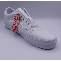 VANS OLD SKOOL TRUE WHITE UNISEX MEN US 9.5 WMN 11 EU 42.5 SNEAKER