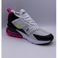 NIKE AIR MAX 270 GS WHITE/ FUCHSIA YOUTH US 7 EU 40 RUNNING SHOE