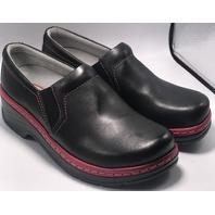 KLOGS FOOTWEAR NAPLES SZ 10 MEDIUM BLACK PINK SLIP RESISTANT NURSING CLOG