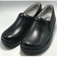 KLOGS FOOTWEAR NAPLES SZ 9 MEDIUM BLACK SMOOTH SLIP RESISTANT NURSING CLOG