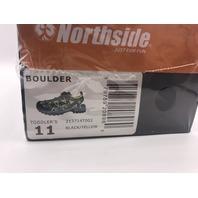 NORTHSIDE BOULDER TODDLER SIZE 11 BLACK/YELLOW ACTIVE SANDALS