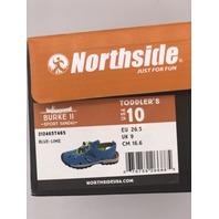NORTHSIDE BURKE II TODDLER SIZE 10 BLUE-LIME ACTIVE SANDALS