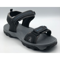 NORTHSIDE AKIRA II  WOMENS SIZE 8 BLACK/ROYAL ACTIVE SANDALS