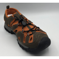 NORTHSIDE BURKE II KIDS SIZE 3 BROWN/ORANGE ACTIVE SANDALS