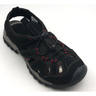 NORTHSIDE BURKE II KIDS SIZE 13 BLACK/RED ACTIVE SANDALS