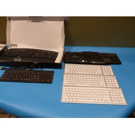 LOT OF 6 KEYBOARDS 4X WIRELESS 2X WIRED 3X ICLEVER 1X LOGITECH 1X ADESSO 1X UNKNOWN