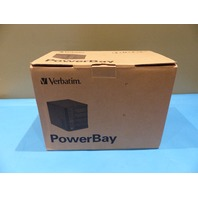 VERBATIM 96956 47485 POWERBAY W/ 4 REMOVABLE HARD DRIVE CARTRIDGES