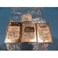LOT OF 3 IBM 74Y4900 AL14SEB060N, THINKSYSTEM 7XB7A00027 , HPE 876937-001 HDD