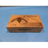 5* RETEVIS HANDHELD 2-PIN PTT SPEAKER MICROPHONE