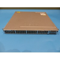 CISCO CATALYST 3850 WS-C3850-48T-E 48 PT GIGABIT SWITCH W/C3850-NM-4-1G