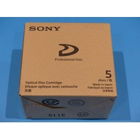 5 PACK OF SONY PFD50DLAX 50GB DUAL LAYER REWRITABLE OPTICAL DISC FOR XDCAM