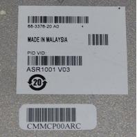 CISCO ADVANCED ENTRPRISE SERVICE ROUTER 68-3376-20 A0 ASR1001 V03 NO PSU AS-IS