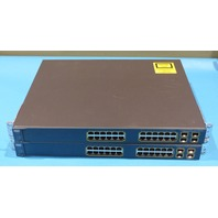2* CISCO WS-C3560G-24PS-S 24-PORT ETHERNET SWITCH