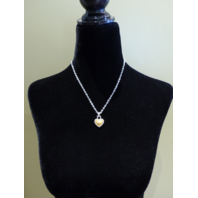 DIAMONDS INTERNATIONAL HEART PENDANT NECKLACE