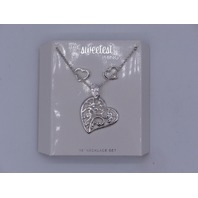 THE SWEETEST THING NECKLACE DESIGN HEART PENDANT SET WITH HEART EARRINGS