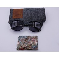 RAEN GARWOOD BLACK SUNGLASSES W/ CASE SLIP AND LENS CLOTH 5421-140