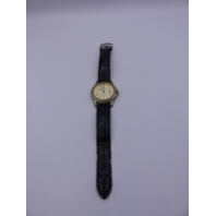 STAUER WATCH 17961 CLASSIC BLACK CRACKED LEATHER STRAP 31TM