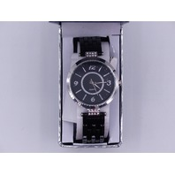 MZ BERGER & COMPANY LADIES BLACK/SILVER QUARTZ WATCH  GEN2298L