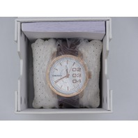 DIESEL DOUBLE DOWN WHITE DIAL DARK BROWN WATCH DZ1665