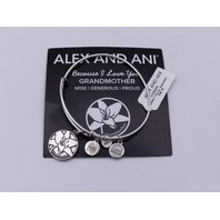 ALEX AND ANI GRANDMOTHER BRACELET SILVER FINISH WISE GENEROUS PROUD COMES W CARD