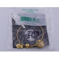 ALEX AND ANI TREE OF LIFE BRACELET BRONZE FINISH BANGLE IN GOLD NWT SEALED A12EB