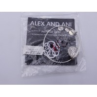 ALEX AND ANI PATH OF LIFE BANGLE SILVER FINISH W/CARD STRENGTH MOTIVATION