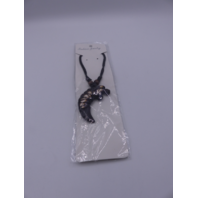 LION NECKLACE X1723 BLACK
