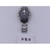 TIMEX ALL SILVER WATCH NO BOX T2M424 SR 920SW CELL WR 50 M STAINLESS STEEL V9
