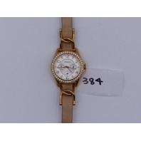 FOSSIL WATCH WOMENS ROSE GOLD LEATHER STRAP 10ATM ES3466 ALL STAINLESS STEEL 18