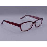 EQUINOX EYEWEAR GLASSES RED FRAME NO CASE 55-16 EQ309 140 BURGANDY