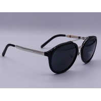 BURBERRY SUNGLASSES BLACK SILVER IN CASE 54 19 140 3N 3428787