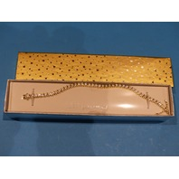 GENERIC 18 KT. GOLD PLATED RHINESTONE BRACELET OR NECKLACE