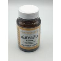 CHAMBERLIN'S MILK THISTLE 175MG 50 VEGETARIAN CAPSULES SUPPORTS LIVER METABOLISM