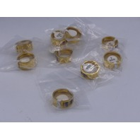 LOT OF 10* GENERIC GOLD RINGS JEWELRY SIZE 9