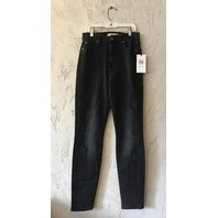 7 FOR ALL MANKIND AUBREY HIGH WAIST ANKLE SKINNY JEAN LUXE VINTAGE COAL SNAKE 24