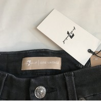 7 FOR ALL MANKIND AUBREY HIGH WAIST ANKLE SKINNY JEAN LUXE VINTAGE COAL SNAKE 28