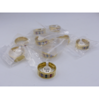 LOT OF 10* GENERIC GOLD RING JEWELRY SIZE 14