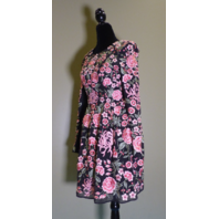 NEEDLE & THREAD EMBROIDERED BLACK / FLORAL WOMEN'S LBD DRESS US SIZE 2 UK 6
