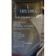 ALLSAINTS CHARCOAL MOYLAN PEA COAT WOOL JACKET SIZE 40 MC019K
