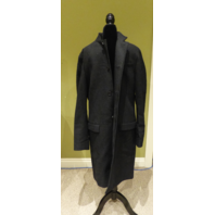 ALLSAINTS CHARCOAL MOYLAN PEA COAT WOOL JACKET SIZE 40 MC019K