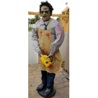 LEATHERFACE TEXAS CHAINSAW MASSACRE ANIMATRONIC LIFE-SIZE HALLOWEEN PROP
