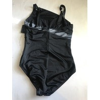 MIRACLESUIT ONE PIECE AZURA ILLUSIONISTS SWIMSUIT IN BLACK SIZE 10