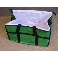 "CHOICE INSULATED COOLER BAG GREEN NYLON SOFT COOLER 22"" x 14"" x 13"""