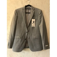 BAR III SLIM FIT BLAZER SUIT COAT JACKET ACTIVE STRETCH GREY 36S 36 SHORT