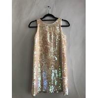 MILLY MINIS ANGULAR SHIFT DRESS PERL SIZE 12 $165