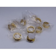 LOT OF 11* GENERIC GOLD RINGS JEWELRY SIZE 12