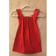 MARYSIA SLEEVELESS RED SWISS DOT DRESS