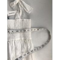 MARYSIA LAHAINA  SMOCKED BABY DOLL DRESS IN COCONUT SWISS DOT